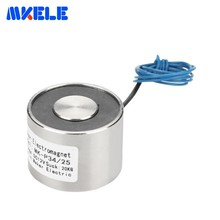 цена на MK34/25 Holding Electric Magnet Lifting 20KG/200N Solenoid Sucker Electromagnet DC 12V 24V Non-standard custom