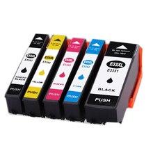 5pcs  33XL T3351 T3361 T3362 T3363 T3364 ink cartridge For EPSON XP-530 XP-630 XP-830 XP-635 XP-540 XP-640