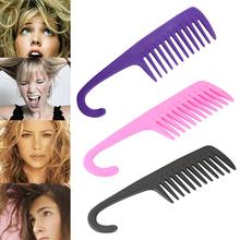 Large Widen Teeth Long Hair Hook Comb Thicken Scalp Massage Combs Curly Brush Tangle Angel Hairbrush