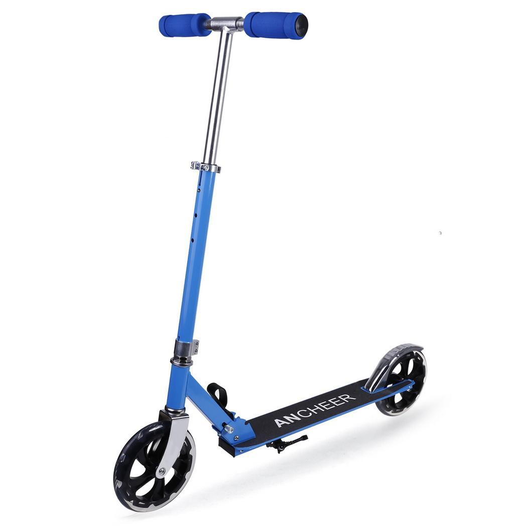 Adulte coup de pied Scooter pliant PU 2 roues planche à roulettes musculation plastique métal urbain Campus transport pied Scoot