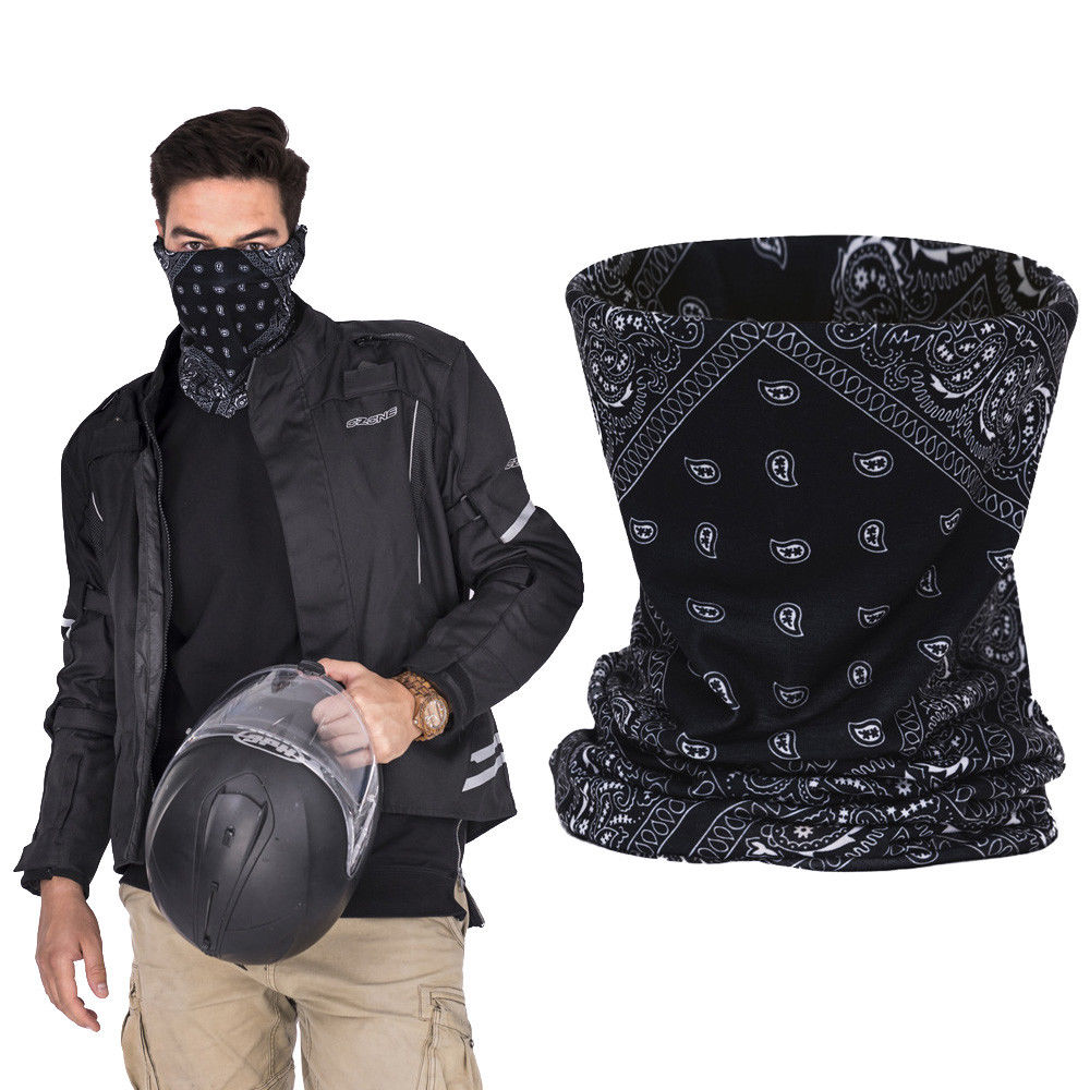 3D Skull Ski Cycling Snowboard Scarf Neck Warmer Face Mask Headwear Wraps Men Skull Ghost Neck Gaiter Tube Balaclava Face Mask