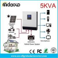 Barato 5kva 4000w off grid convertidor inversor solar híbrido DC48v a CA 220 v 230 v con