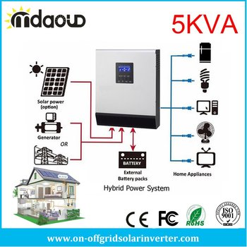 5kva 4000w off grid hybrid solar inverter converter DC48v TO AC 220v/230v WITH solar charge controller pwm50a /MPPT60A /MPPT80A