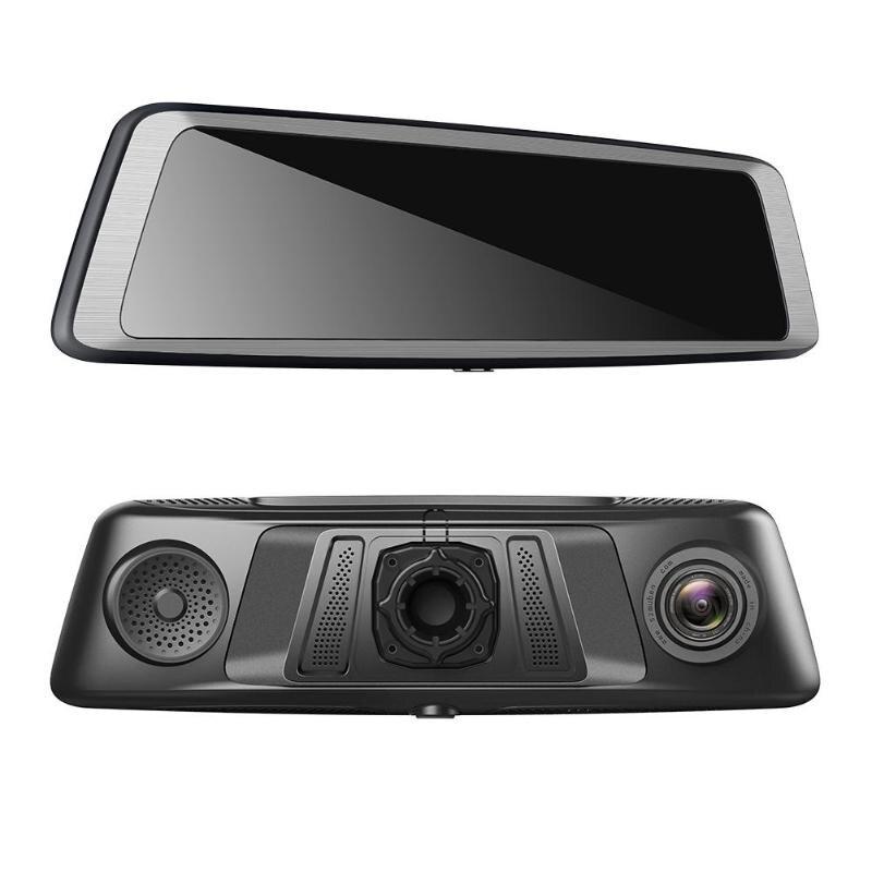 VODOOL 9.88 Pouces IPS Écran Tactile Voiture DVR Caméra 4-Lentille 1296 P Octa-core Voiture Rétroviseur GPS Vidéo Enregistreur ADAS Dash Caméra