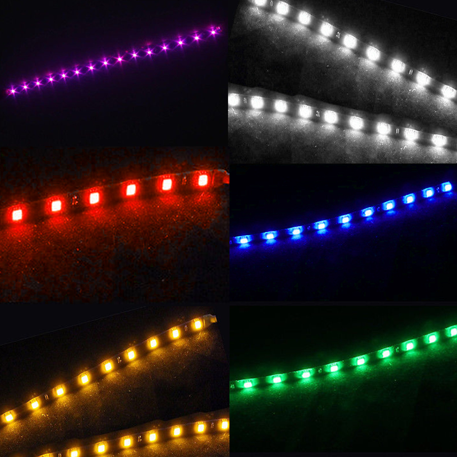 4pcs 12/'/' 30CM ATV LED Strip Light Blue With Wireless Remote Control For Can-Am