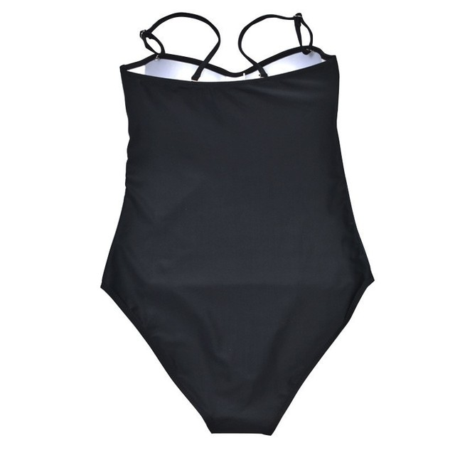 Sexy One Piece Large Swimsuits Closed Push Up Swimwear Plus Size Women Flower Bathing Suit Body 2019 Beach Bather Swimming Suit 5