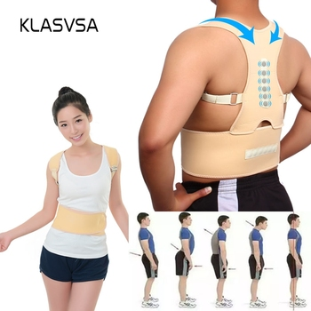 KLASVSA Magnet Back Shoulder Posture Corrector Corset Support Belt Brace Orthopedic Bandage Correction Postural Straightener