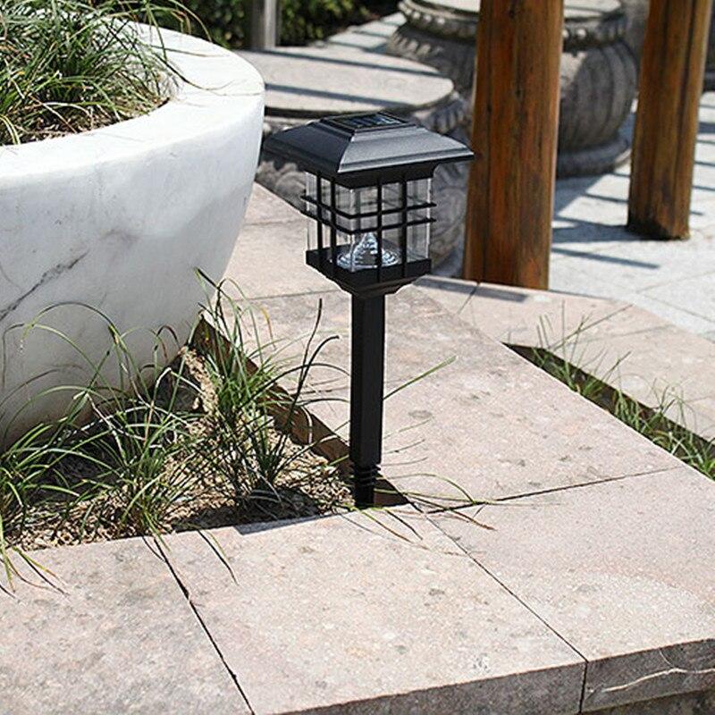 Neue 2019 Edelstahl Led Solar Rasen Lampe Outdoor Garten Dekoration Straße Licht Led Solar Stick Lichter Weiß Licht Urlaub