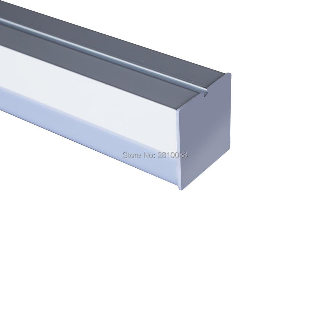 5-10 sets/lot U forme linéaire led lampes 1.2 m 2.4 m long haute puissance led lumière linéaire suspendu pour l'entrepôt ou center commercial éclairage