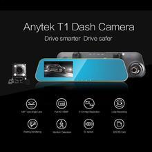 4.3 Inch 1080P Car Rearview Mirror Car DVR Full HD Car Driving Video Recorder Camera Car Reverse Image Dual Lens Dash Cam