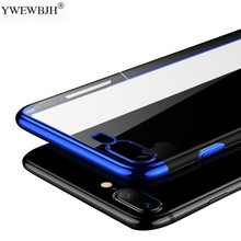 YWEWBJH Plating Case for iPhone Xr XS Max XSMax Cover Transparent Silicone Luxury  Soft TPU Phone For 7 8 6