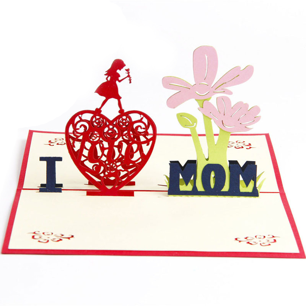 3D Handmade Pop up Greeting Card Romantic Engagement  Mother/'s Day Gifts