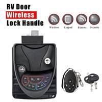 Автомобиль RV Автозапуск замок двери рукоятка защелки ручка Deadbolt RV прицепы дистанционное управление 3 разблокировки методы цинковый сплав +