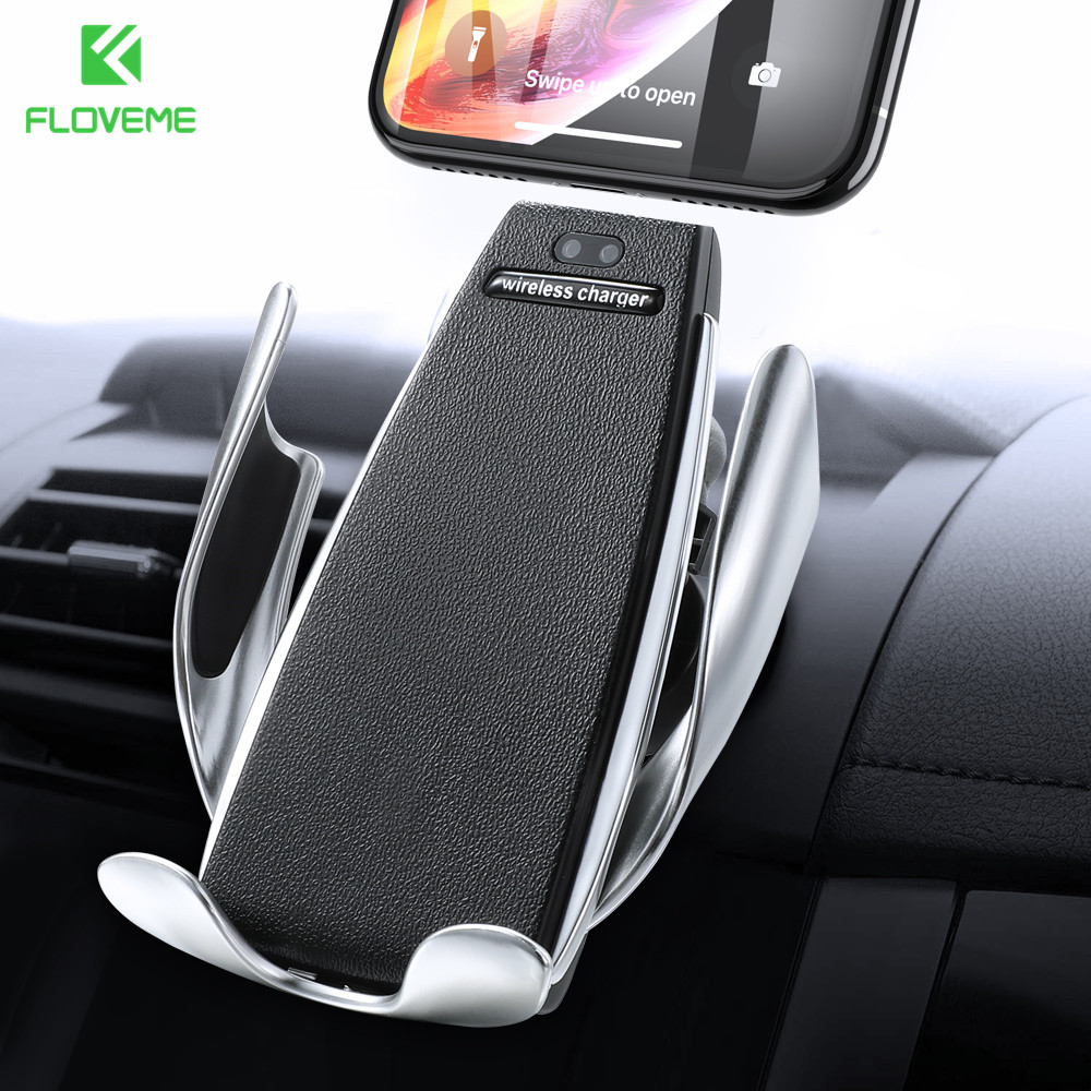 FLOVEME Infrared Touch Car Wireless Charger For iPhone Samsung Phone Holder Fast Charging 360 Degree Mount Stand