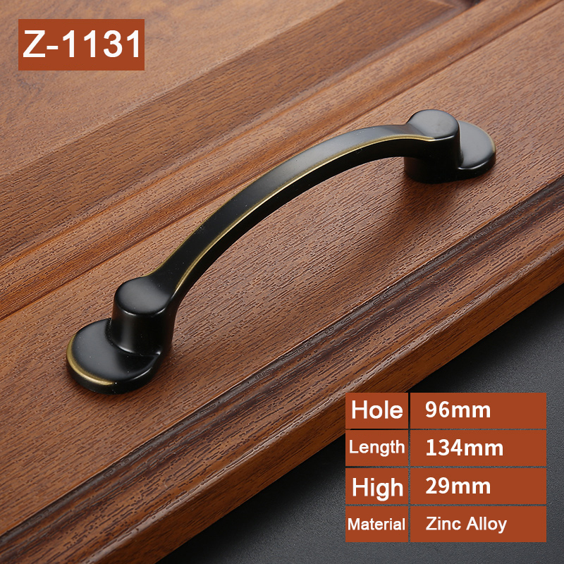 High Quality American Style Black Handles for Furniture Drawer Cabinet Kitchen Pull Handles Knobs Handle Wardrobe Z 1131 in Cabinet Pulls from Home Improvement