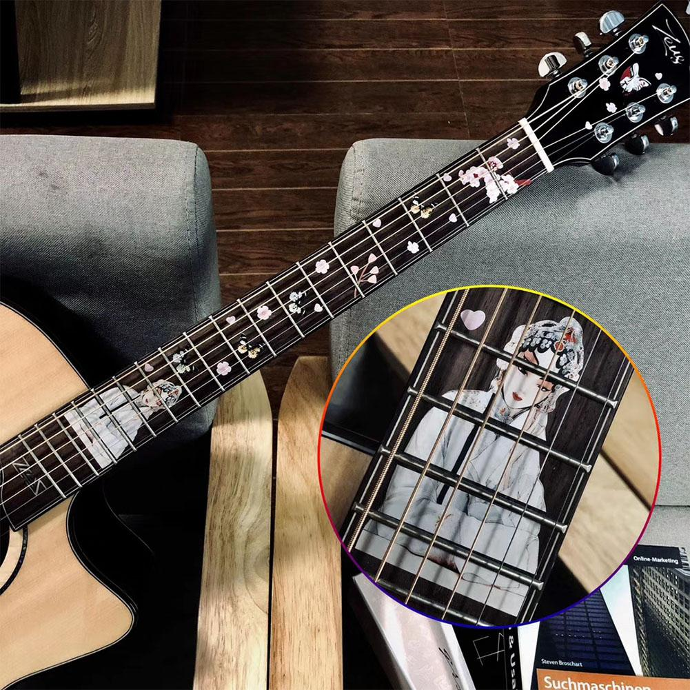 Guitar Fingerboard Fretboard Inlay Stickers Guitar PVC Decals Guitarra Decoration For Electric Acoustic Guitar Bass Accessories