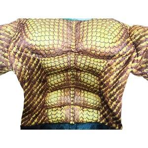 Image 4 - Disfraz de Aquaman dorado para niños, disfraz de músculo, superhéroe, Halloween