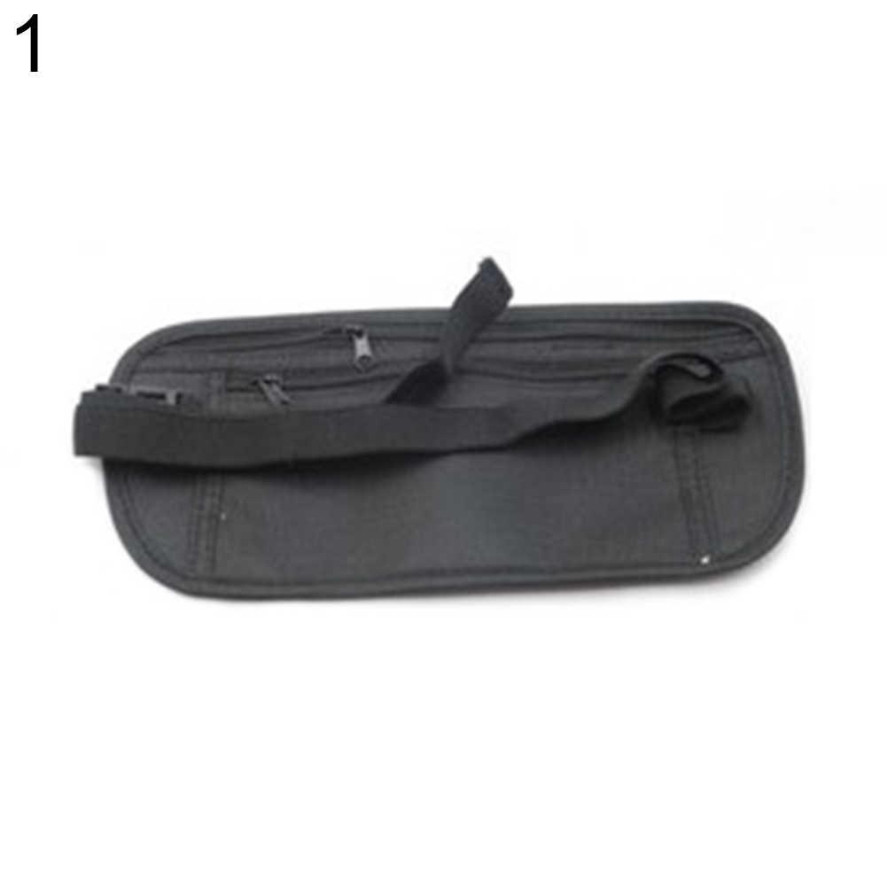 ファッションバッグベルトにポーチユニセックス防水多機能キャンバスジッパーファニーパックサイクリングスポーツハイキングウエストバッグ電話財布