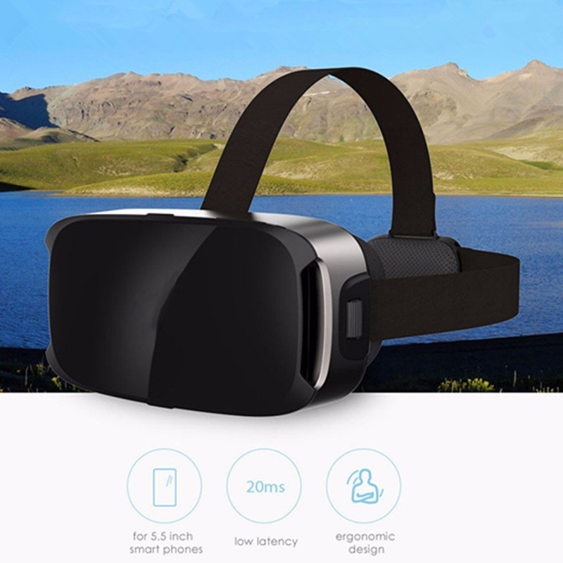 LEORY VR 3D Game Helmet Glasses Private Theater Ergonomic Design For 5.5 Inch Smartphone Glasse Virtual Reality
