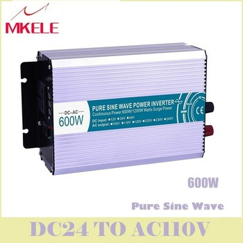 High Quality MKP600-122 600w  Inverter Pure Sine Wave 12vdc To 220vac Voltage Converter Solar LED Digital Display China