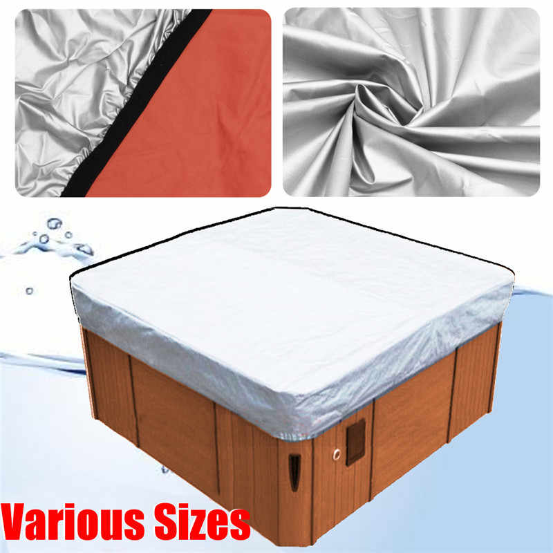 37 Sizes Spa Cover Cap Cubierta Protector Jacuzzis Hotspring Spa Cubrir Cubierta Weather Guard Universal Tub Cover All-Weather