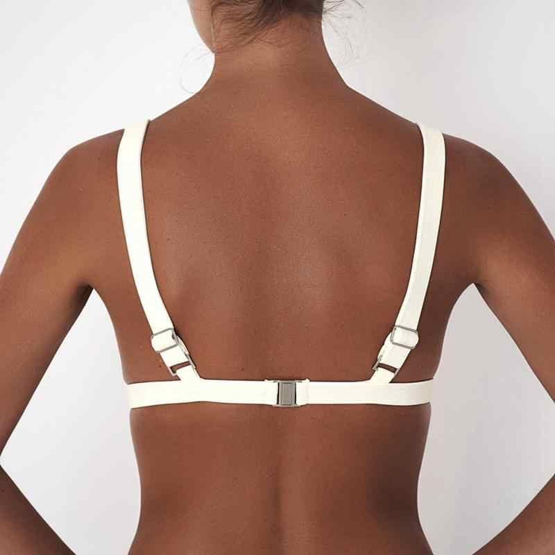 Sexy Phụ Nữ Dễ Thương Cô Gái Set Push UpU Siêu Mỏng Độn Bandage Đầu trang Bikini Đồ Bơi Áo Tắm Beachwear Rắn Chỉ Hàng Đầu Cũng Là MỘT áo ngực Hot