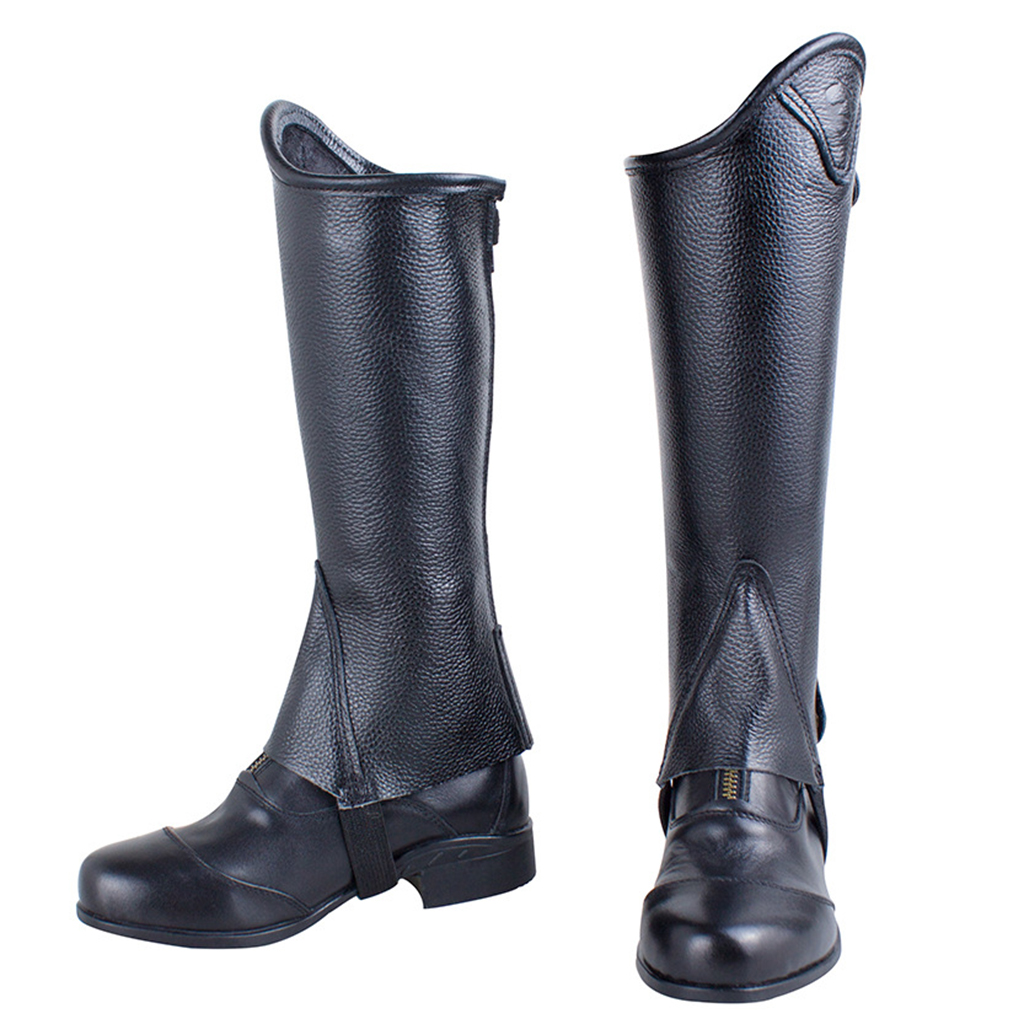 Perfeclan Easy Care Horse Riding Half Chaps Zipper Equestrian Gaiters For Children Horse Riding Half Chaps For Kids
