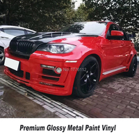 PREMIUM CAR WRAPPING FILM flame red glossy metallic wrapping film Quality assurance low initial tack adhesive