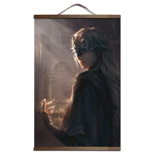 Dark Souls 2 3 poster for HD canvas posters decoration painting  with solid wood hanging scroll
