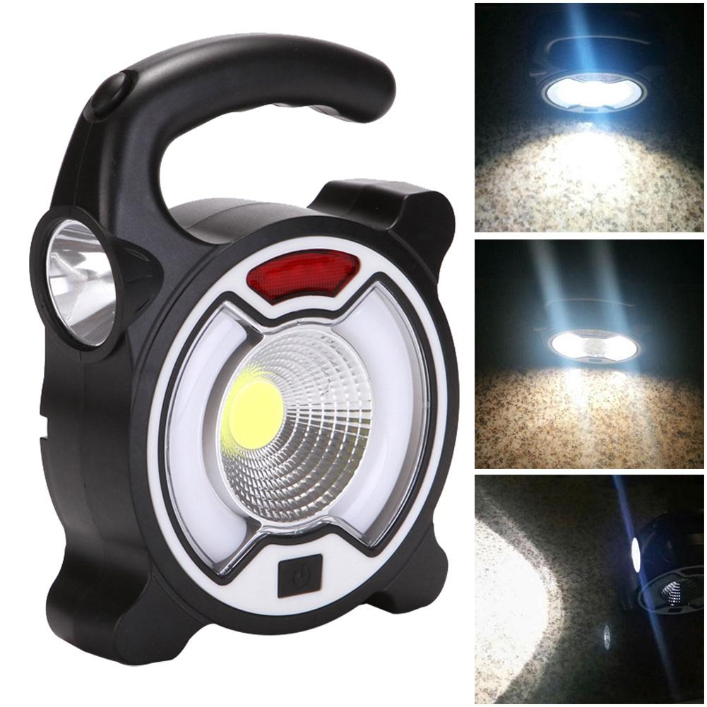 Qualified Outdoor Solar Energy/battery Cob Camping Light Handheld Flashlight Tent Led Lamp