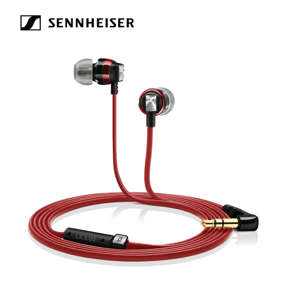 Sennheiser CX 3.00 3.5mm Headphones Dynamic Headset Stereo Sound Heavy Bass Earphone with 1.2m Cable for Phone