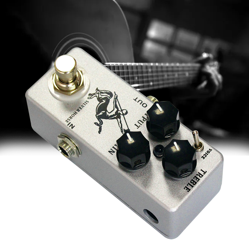 Silver Horse Overdrive/Boost Guitar Effect Pedal Full Metal Shell Guitar Parts Accessories new effect pedal mooer solo distortion pedal full metal shell true bypass
