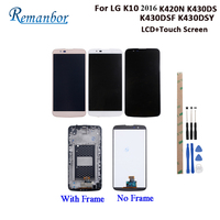 Remanbor For LG K10 2016 K420N K430DS K430DSF K430DSY LCD Display And Touch Screen +Frame Digitizer Assembly For LG K10 +Tools