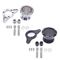 Universal Motorcycle Velocity Stack Air Cleaner Intake Filter CNC Aluminum For Harley Sportster 883 1200 XL 48 2004 U