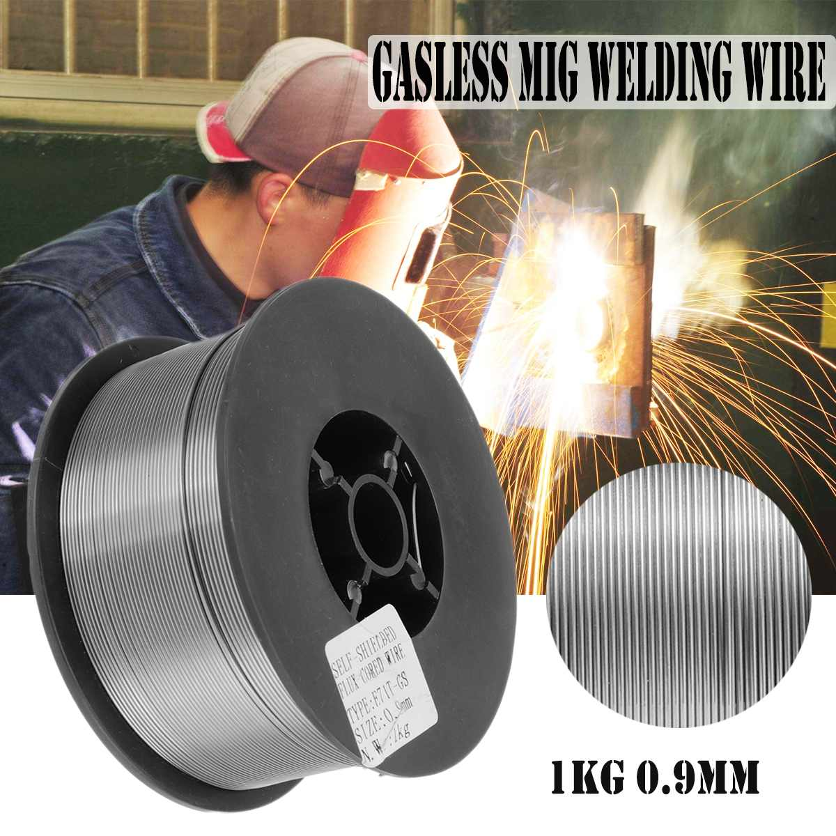 1kg 0.9mm Gasless Mig Welding Wire E71T-GS / E71T-11 Flux Cored Wire  for Welding Machine Accessoies1kg 0.9mm Gasless Mig Welding Wire E71T-GS / E71T-11 Flux Cored Wire  for Welding Machine Accessoies