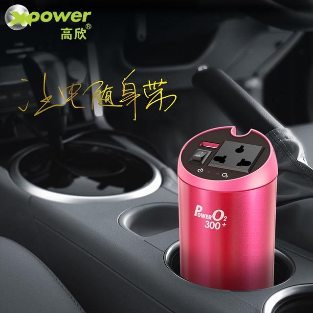 Автомобильный инвертор T300 (250 Вт) 12В/220В с USB QC3.0, XP