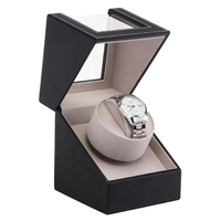 Collection Watch Winder Wristwatch Luxury Automatic Mechanical Motor Shaker Display Box Holder Transparent Cover PU Leather Case