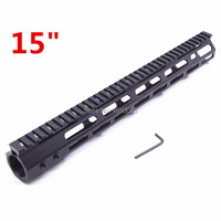Tactical hunting Accessories M LOK Handguard Rail 15inch MLOK Free Float Hand Guard Picatinny scope mount System Fit .223/5.56