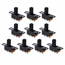 10pcs Black SPDT ON-Off Miniature Slide Switchs Toggle Electronic Component DIY Power Connector Wires Mini Switch