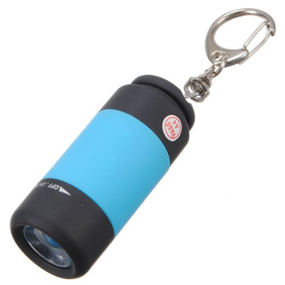 Fashion 1 Pcs USB Mini Torch Flashlight LED Portable Rechargeable With Door Key Chain