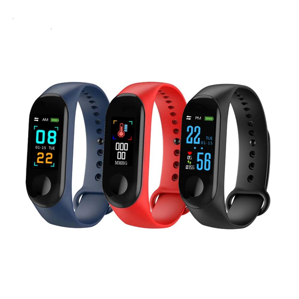 Fitness Armband Blutdruck Outdoor IPS Heart Rate Monitor Leben Wasserdicht Smart M3 Armbänder PK Mi Band 3