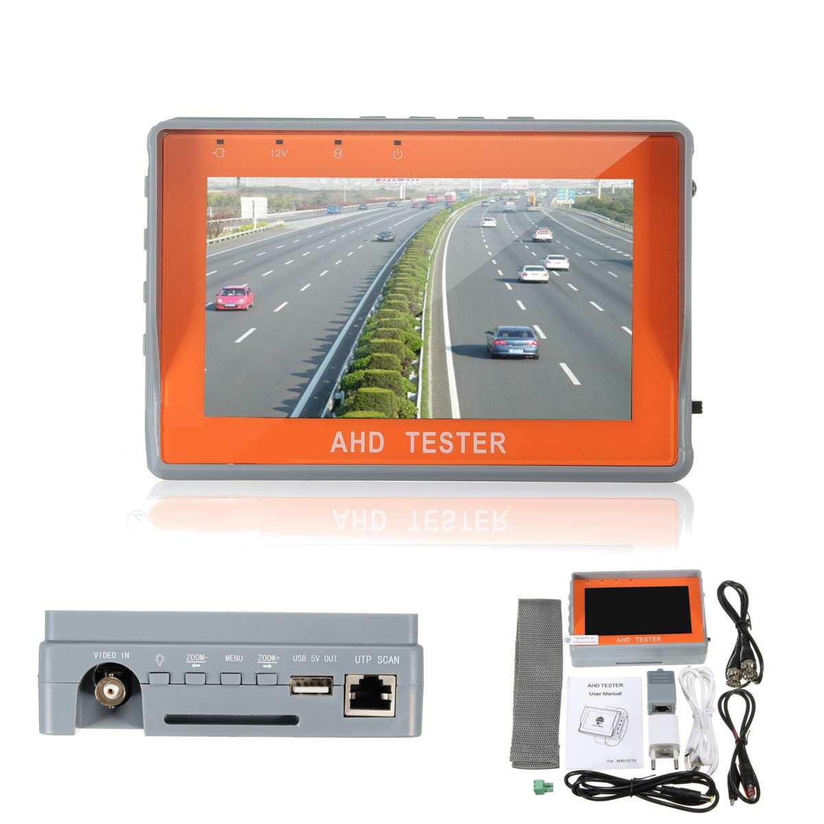 4.3 pouces HD AHD CCTV testeur moniteur AHD 1080 P caméra analogique test PTZ UTP câble testeur 12V1A sortie