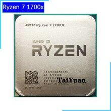 معالج وحدة معالجة مركزية AMD Ryzen 7 1700X R7 1700X 3.4 GHz ثماني النواة ستة عشر خيط مقبس وحدة معالجة مركزية ثنائي النواة AM4