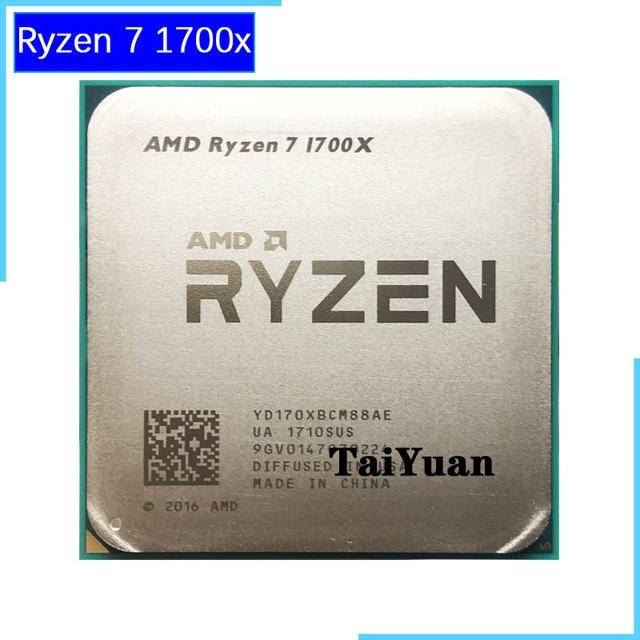 AMD Ryzen 7 1700X R7 1700X3.4 GHz Sekiz Çekirdekli Onaltı Iplik CPU Işlemci YD170XBCM88AE Soket AM4