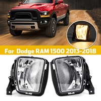 12V 3000K Clear Bumper Fog Halogen Lights For Dodge RAM 1500 2013 2014 2015 2016 2017 2018