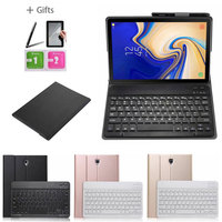 Magnetic Bluetooth Keyboard Leather Case for Samsung Galaxy Tab S4 T830 T835 Cover Funda with Pencil Holder
