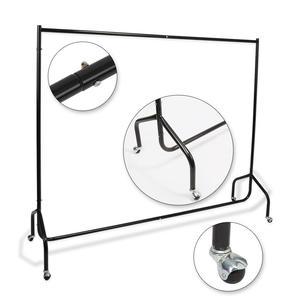 Image 3 - Ağır hizmet tipi 6FT Uzun Metal Elbise Askılı Ray Ev Dükkanı Haddeleme Konfeksiyon Ekran Standı Raf giysi askısı