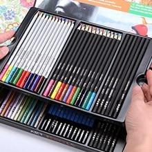 Lápis de cor metálica da aguarela do lápis do carvão do conjunto dos lápis da arte de 60 pces para esboçar a coloração do desenho