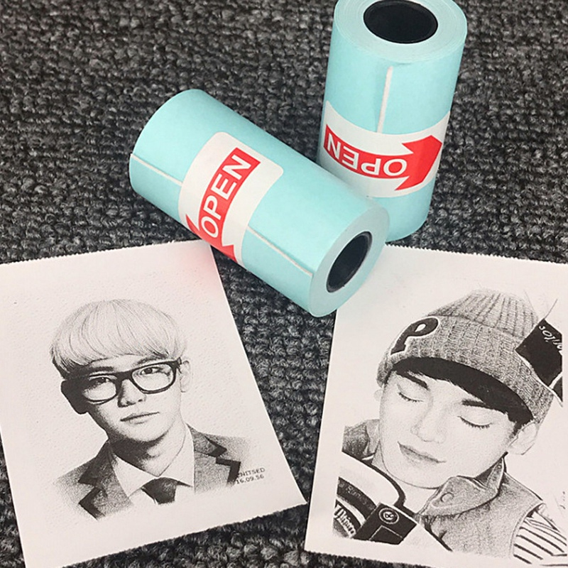 3 Rolls Printing Sticker Paper Photo Paper For Mini Pocket Photo Printer Paperang P1 P2 Bill Receipt Papers