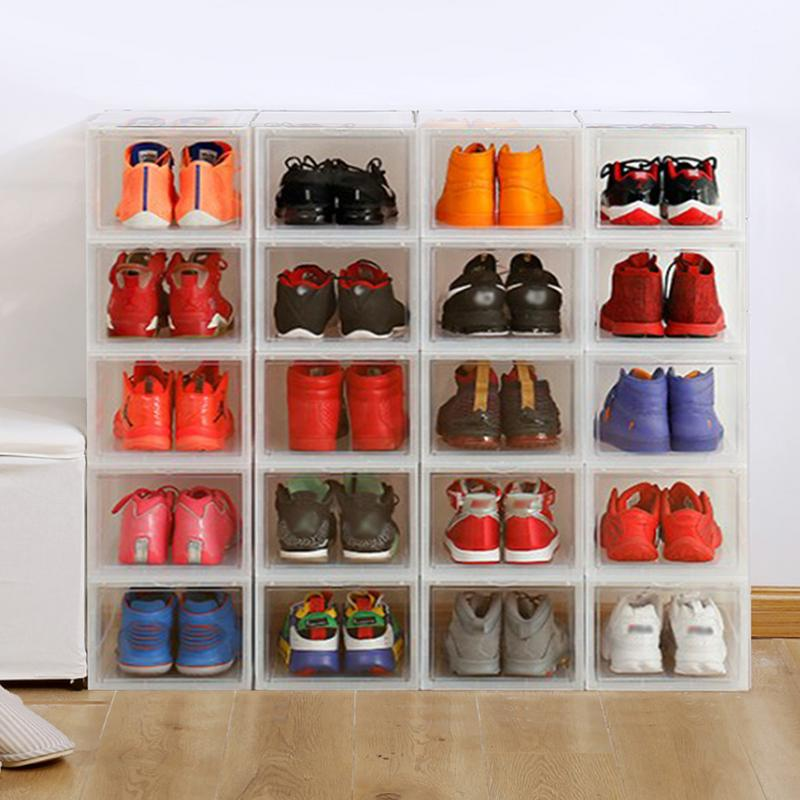 Sneakers Storage Box Assembly Drawer Shoe Box Organizer Basketball High Top Sneakers Wall Collection Display Shoe Cabinet|Drawer Organizers| |  - title=